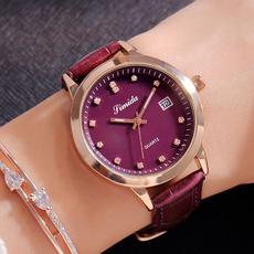 正品思密达新款手表女时尚潮流韩版女表真皮带石英表女防水腕表