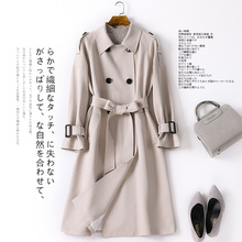 风衣女中长款2019春秋新款女装韩版外衣英伦气质流行秋季法式外套
