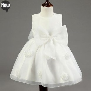 Girl Princess Bow Dress Toddler Baby Tulle Dresses 2-9 year