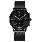 卡诗顿手表男学生运动石英表防水时尚潮流2018新款男表手腕表
