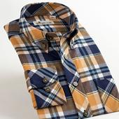 衬衣 格子衬衫 男士 保暖加厚彩格绒修身 DEEPOCEAN2015春新款 长袖