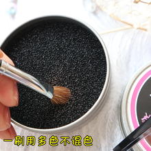 New technology: cosmetic brush, clean sponge iron box, color changing, cleaning powder, dry cleaning, washing tools, activated carbon sponge.