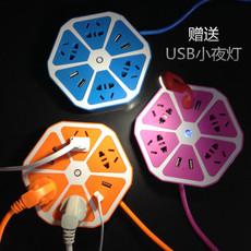 家用柠檬智能排插带USB插座多功能创意多孔接线板插线板充电电源