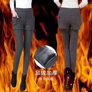 【天天秋价】加绒薄款中腰女打底女外穿包邮裤小脚长裤紧身打底裤