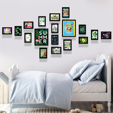 卧室家居装饰18框大墙面多框创意照片墙相框墙组合相片墙 客厅