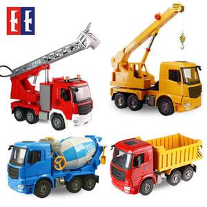 双鹰手动工程车仿真水泥搅拌车超大吊车儿童玩具汽车模型男孩礼物