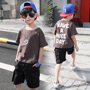 童装男童夏装套装2018新款夏季儿童短袖4两件套5中大童6潮衣10岁8童装