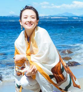 丝巾女百搭妻子的浪漫旅行章子怡同款防晒披肩夏季薄款沙滩巾围巾