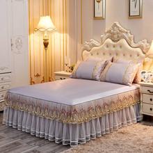席子冰丝席夏季床罩凉席1.5床空调软席可机洗折叠1.8床 欧式床裙款