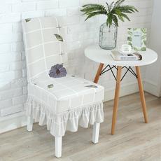 家用弹力连体酒店餐桌椅背椅子套子欧式布艺座椅套凳子套餐椅套罩