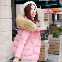 冬季韩版大毛领短款加厚棉衣宽松棉袄ulzzang棉服外套女装面包服