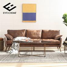 轻奢后现代欧式真皮沙发头层牛皮北欧客厅三人美式复古皮艺沙发