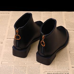 马丁靴女英伦风2018新款短靴女秋冬季单靴学生粗跟韩版小跟鞋百搭
