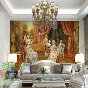 欧式宫廷人物画壁纸图片