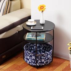 小茶几简约迷你时尚边几现代客厅沙发边柜圆形卧室床头小桌子角几