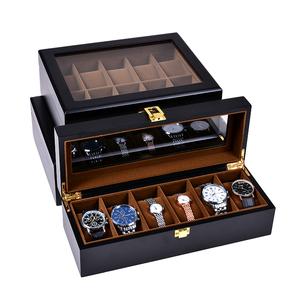 欧式实木质手表收纳盒精美腕表手链整理收藏盒礼品包装首饰展示盒木质包装盒