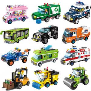 儿童益智玩具兼容<span class=H>乐高</span><span class=H>积木</span>拼装男孩<span class=H>塑料</span><span class=H>拼插</span>警车模型5-8-12岁礼物
