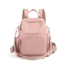 Hong Kong purchases burglar-proof schoolbag, Oxford shoulder bag, women's bag, new Korean version nylon canvas travel backpack, 2019