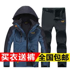 西藏森州狼爪户外冲锋衣男两件套女三合一四季加绒加厚潮牌登山服