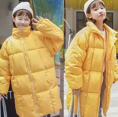 2017冬季新款韩版棉衣女中长款宽松bf学院风加厚面包服棉服女学生