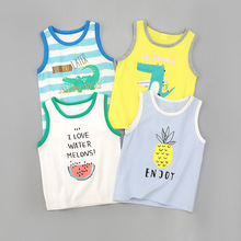 Children's Wear New Boys'Summer vest Baby's Wear Summer Boys' 0-1-2-3-4 Year-old Baby's Wear