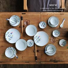 日式陶瓷家庭餐具 12头22头多人食碗碟盘套装 饭碗汤碗菜盘餐盘