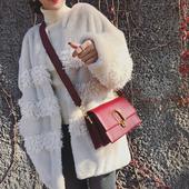 单肩包女欧美女包休闲包斜挎小包包 LOSEA 锁扣小方包包女2017新款