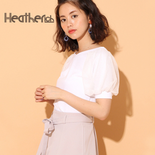 collectpoint Heatherich日系甜美显瘦蕾丝拼接短袖女8.8新767392