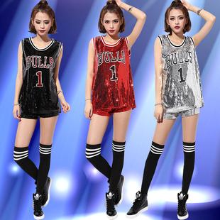 街舞衣服女成人爵士舞亮片舞台表演服装韩版ds现代舞舞蹈练功服