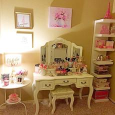 欧式梳妆台卧室实木化妆台迷你现代简约梳妆柜小户型化妆桌经济型