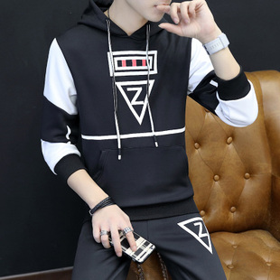 Mens Tracksuit Set Plus Size Track Suit Men Stand Collar套装