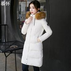 2017新款冬季CCDD大毛领羽绒服女中长款韩国加厚连帽朵以潮外套女