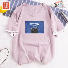 韩版清新假两件t恤男女情侣短袖衫纯棉宽松大码青少年百搭t恤男装