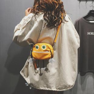 上新可爱小包包女2018新款潮韩版时尚百搭单肩斜挎包honey蹦迪包