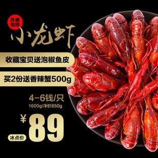 洪湖渔家麻辣小龙虾熟食香辣味鲜活现做龙虾3.2斤装包邮4-6钱中虾