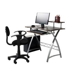 一体机电脑台式桌90cm长省空间电脑桌卧室简易桌子家用学生写字台