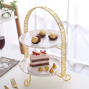 new wedding 3-tier fruit plate dessert cake stand