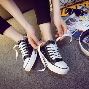 2018春季新款小白帆布鞋女鞋子原宿ulzzang百搭韩版布鞋学生板鞋