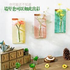 复古美式田园水培植物花瓶壁挂创意背景墙饰卧室墙上装饰品挂件