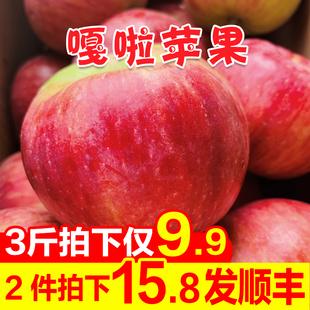 苹果水果新鲜带箱3斤当季应季红富士 顺丰 10嘎啦孕妇5 包邮