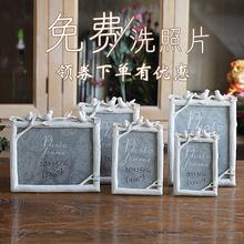 照片框家居饰品摆台韩式礼物 5寸6寸7寸8寸三只鸟树脂相框创意个性