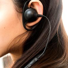 华为OPP苹果耳机K歌直播专用线控带麦软胶舒适单耳挂式可调音量