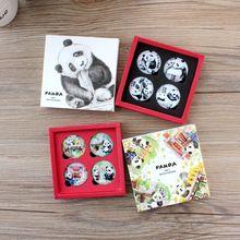 熊猫纪念品创意家居冰箱贴贴饰装 饰品礼品办公用品玻璃实用磁性贴