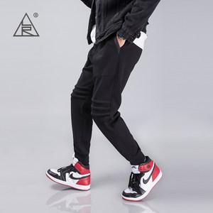 卫裤男士新款运动生活长裤男装加绒加厚收口弹力束脚秋冬季运动裤