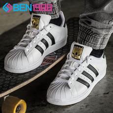 Adidas女鞋Superstar三叶草金标贝壳头 男鞋板鞋C77124 C77154