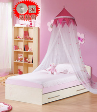 儿童蚊帐1米1.2米1.5米单人床公主圆形吊顶宜家男女孩单人床蚊帐