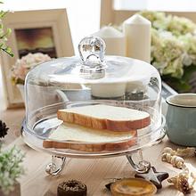 透明玻璃蛋糕盘装饰器皿家居软装橱柜专柜摆件样板房礼品