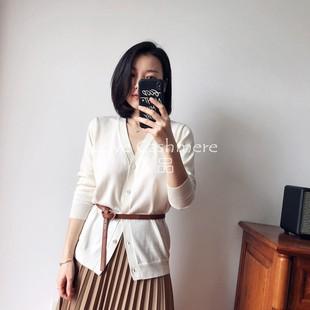 Love绒品 棉羊绒天使系列 舒适软糯 女款V领针织开衫薄款 空调衫