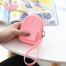 卡通创意小书包零钱包钥匙包女可爱迷你随身多功能卡包糖果色小包
