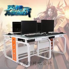 定做网吧桌椅网咖专用带机箱一体化电脑桌连排工业风高档LOL游戏